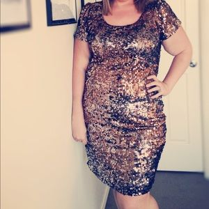 New Years gold glitter dress 3xl